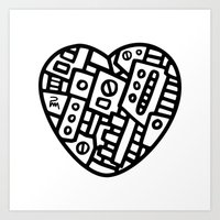 Iron Heart (B&W Edition)… Art Print