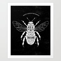 bee Art Prints featuring BEE by bmddesign.fr