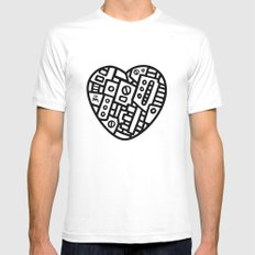 Iron heart (B&W Edition) - PM SMALL Mens Fitted Tee White