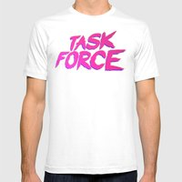 Task Force Mens Fitted Tee White SMALL
