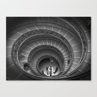 The Spiralling Staircase… Canvas Print