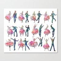Sock Hop Canvas Print