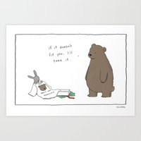 Bears Are Awesome  Art Print