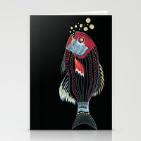 Happy New Fish  Stationery Cards