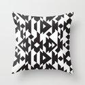 Black & White Caleido Throw Pillow