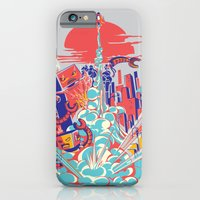 iPhone & iPod Case featuring Smash! Zap!! Zooom!! - Generic Spacecraft by Marco Angeles