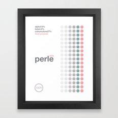 perle//single hop Framed Art Print