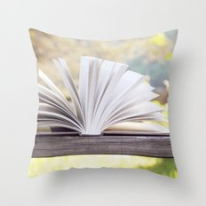 An Open Book Throw Pillow