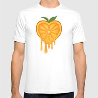 Love Orange Mens Fitted Tee White SMALL