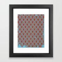 Leafpttrn Framed Art Print