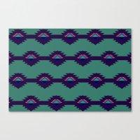 Blue Aztec Design Canvas Print