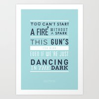 Lyrical Type - Dancing In The Dark Art Print