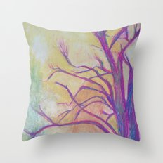 Abstract Landscape II Throw Pillow