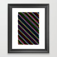 Pixel Split No.4 Framed Art Print