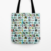 Palest Aqua Merry Christ… Tote Bag