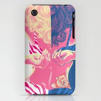 iPhone 3Gs & iPhone 3G Cases featuring Undressing Rose by Jay Haldon
