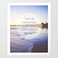Salt Water Quote, Ocean Photography Art Print