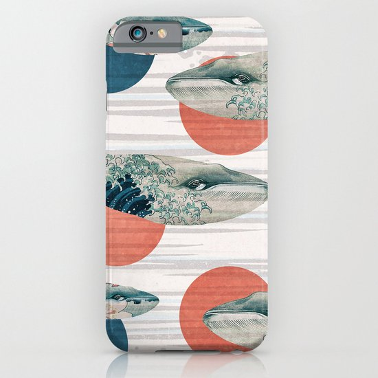 Whales and Polka Dots iPhone & iPod Case