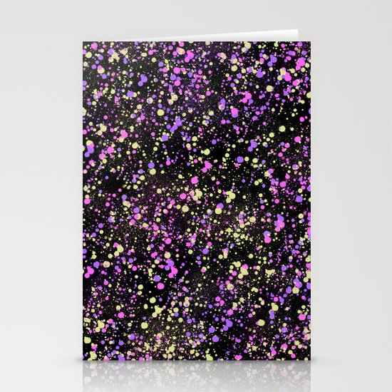 Paint Splatter Stationery Card