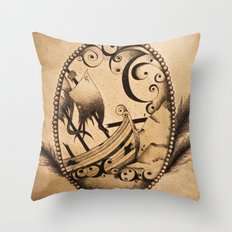 Dashed to Bits on the Reef Throw Pillow