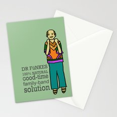 Dr. Funke's 100% natural, good-time family-band solution Stationery Cards