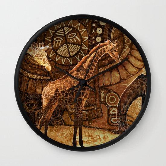 Three Giraffes Wall Clock