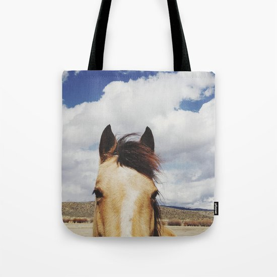 Cloudy Horse Head Tote Bag