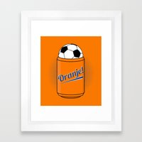 ORANJE! Framed Art Print