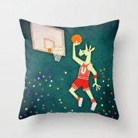 Unicorns Can Jump Throw Pillow