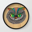 Alice´s Cat Wood Wall Clock