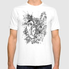 panic Mens Fitted Tee White SMALL
