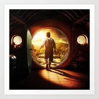 lord of the rings Art Prints featuring THE LORD OF THE RINGS by September 9