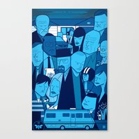 Breaking Bad (blue Versi… Canvas Print