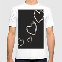 Love Hearts  Mens Fitted Tee White SMALL