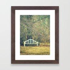 Winter Bench Framed Art Print