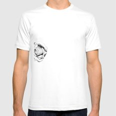Two Roses for my Friends White Mens Fitted Tee SMALL