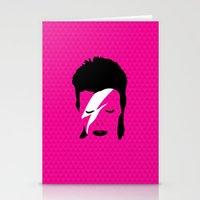 Ziggy Stardust - Pink Stationery Cards