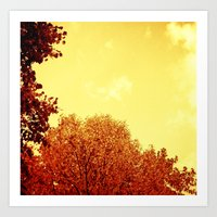 RED SCALE Art Print