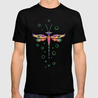 Dragon Fly Mens Fitted Tee Black SMALL