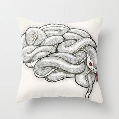Brainsnake Throw Pillow