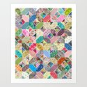 Betty's Diamond Quilt Art Print