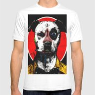 Rabid Red Mens Fitted Tee White SMALL