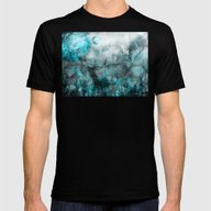Magic Blue World Mens Fitted Tee Black SMALL