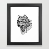 Mr Wolf Framed Art Print