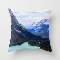 Peyto Lake, Alberta Throw Pillow