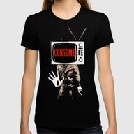 Consume Womens Fitted Tee Black X-LARGE