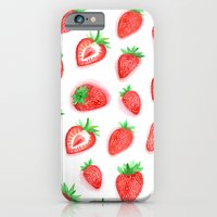 Watercolour Strawberries iPhone 6 Slim Case