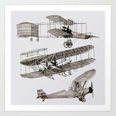 airplanes 3 Art Print