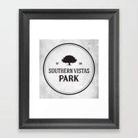 Southern Vistas Park Framed Art Print
