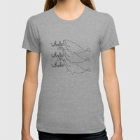 Whales! Womens Fitted Tee Athletic Grey SMALL